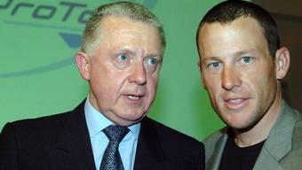 Hein Verbruggen (l.) und Lance Armstrong.
