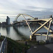 Blick auf die Dreiländerbrücke