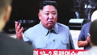 Wollte offenbar mit weiteren Raketentests Südkorea warnen: Nordkoreas Machthaber Kim Jong Un. (Archivbild)