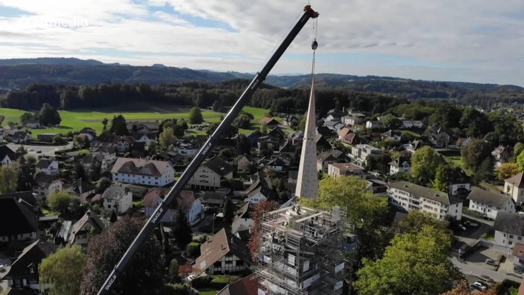 Neue Turmspitze für die Kirche in Herzogenbuchsee