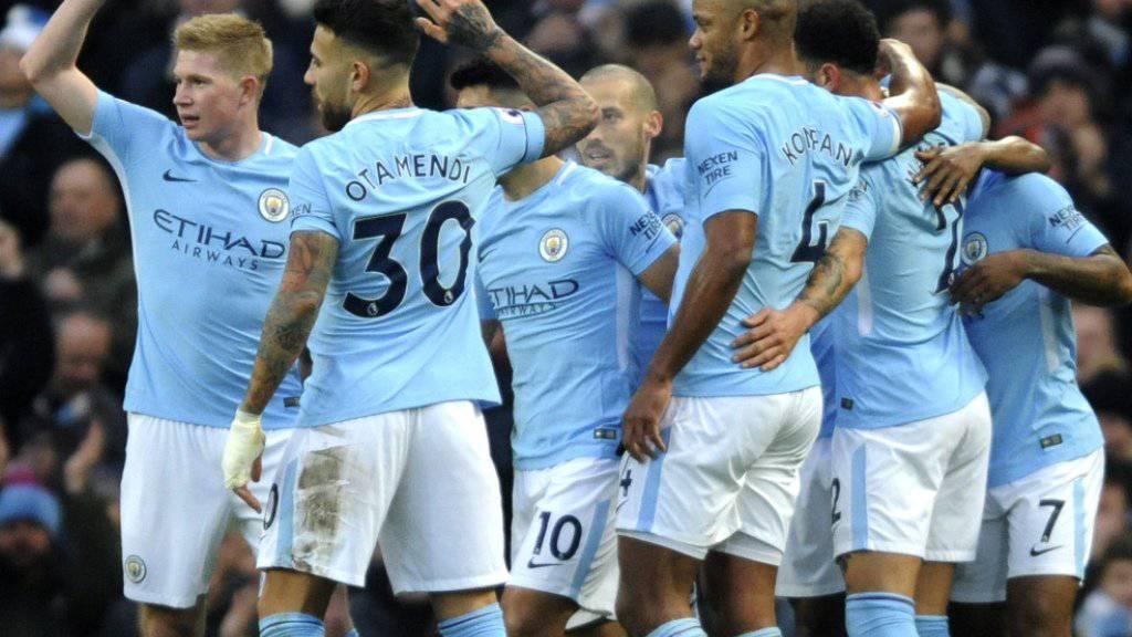 Manchester City legte mit 55 von 57 möglichen Punkten eine überragende Vorrunde in der Premier League hin
