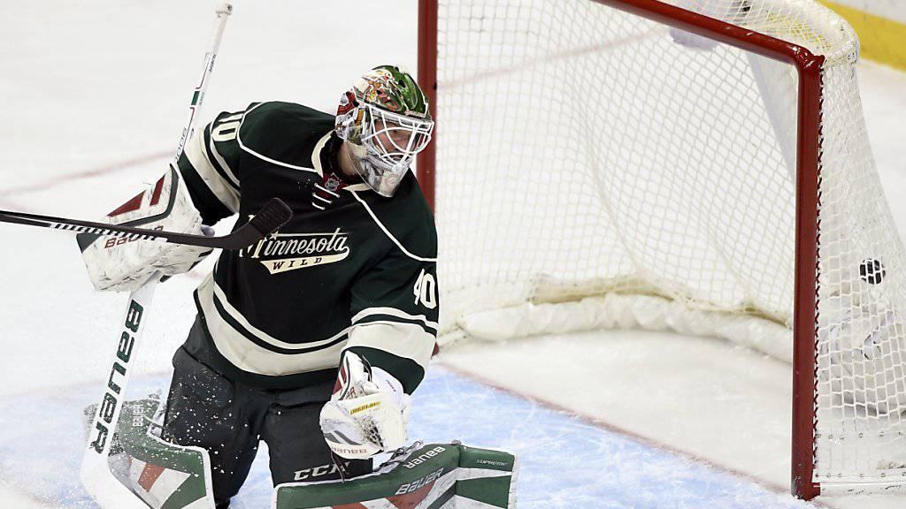 Nach 187 Sekunden bezwungen: Minnesotas Goalie Devan Dubnyk