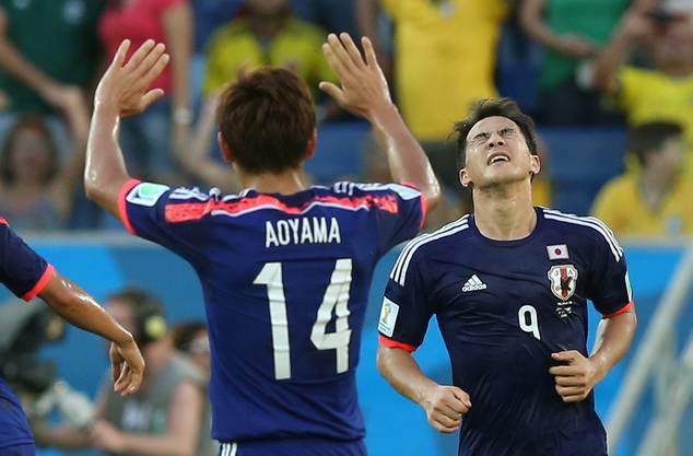 Kurz vor der Pause trifft Shinji Okazaki zum 1:1-Ausgleich