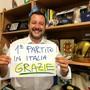"""""""Stärkste Partei in Italien. Danke!"""": Matteo Salvini, Italiens Innenminister von der rechten Lega-Partei."""