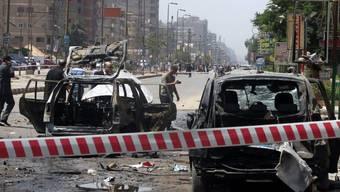 Ein Bild der Zerstörung nach dem Bombenanschlag am Donnerstag