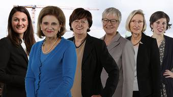 Tiana Moser (GLP/ZH), Doris Fiala (FDP/ZH), Ida Glanzmann (CVP/LU), Rosmarie Quadranti (BDP/ZH), Prisca Birrer-Heimo (SP/LU) und Lisa Mazzone (Grüne/GE).
