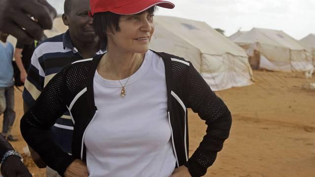 Micheline Calmy-Rey hat den Empfangsbereich von Dadaab besucht
