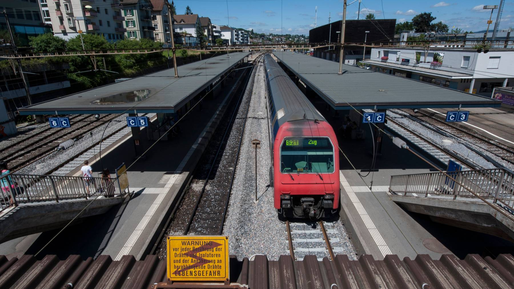 Am Bahnhof Thalwil kam es zu einem scheren Unfall.