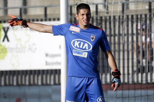 Djordje Nikolic ist Stammkeeper in der Challenge League beim FC Aarau.