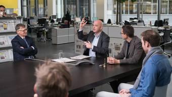 Fifa-Präsident zu Besuch auf der Redaktion der AZ Medien in Aarau