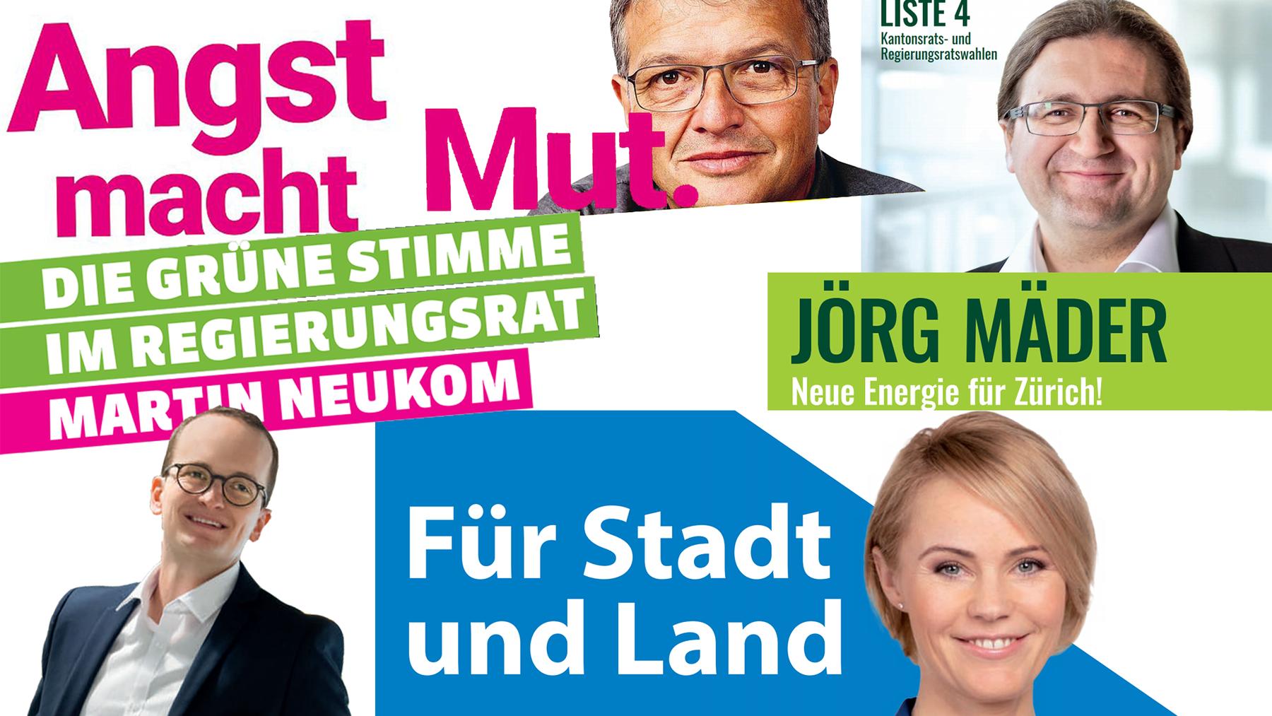 Collage Regierungsratswahlen