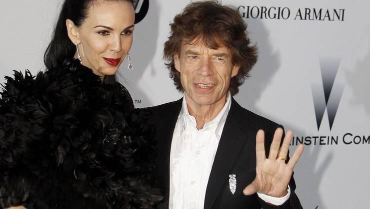 Mick Jagger mit der langjährigen Freundin L'Wren Scott, die sich in ihrer Wohnung umgebracht haben soll
