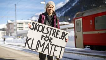 Wie im vergangenen Jahr wird Greta wohl mit dem Zug nach Davos reisen. An der Anti-Wef-Wanderung nimmt sie nicht teil.