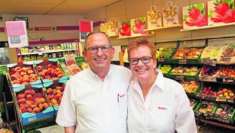 Geschäftsführerin Beatrice Huwiler mit ihrem Ehemann Bruno.