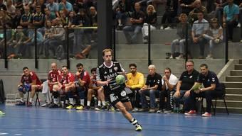 Impressionen vom ersten Aargauer Handball-Derby zwischen dem TV Endingen und dem HSC Suhr Aarau in der NLA seit 1970 Tagen