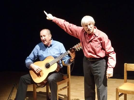 Weg- und Bühnengefährten seit einem halben Jahrhundert - die beiden Tessiner Dimitri und Roberto