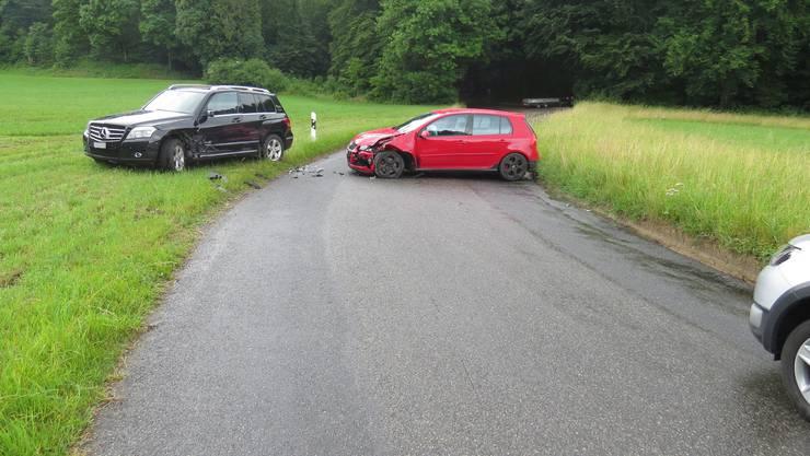 Den entgegenkommenden Mercedes hatte die VW-Fahrerin zu spät bemerkt.