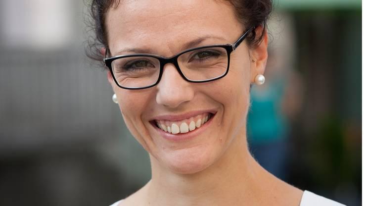 Jugendfestrednerin Sabrina Hardmeier-Stücheli sprach auf dem Freischarenplatz.