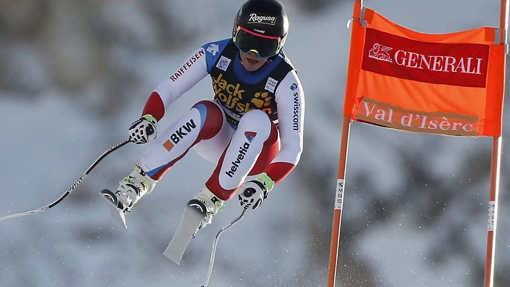 Lara Gut ist für die Abfahrt in Val d'Isère gerüstet