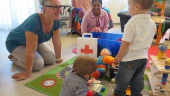 Kinderbetreuung in einer Rotkreuz-Tagesstätte. (Symbolbild)
