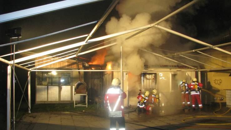 Containerbrand in Kölliken