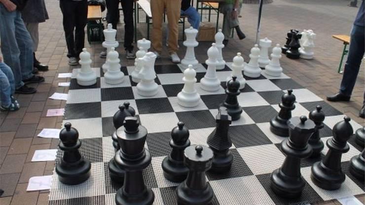 Schach im öffentlichen Raum.