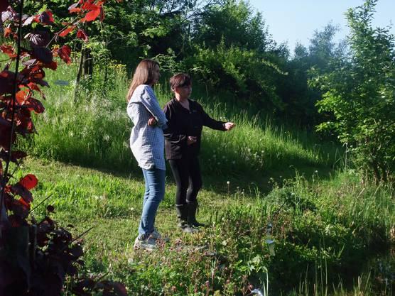 Besprechung im Garten