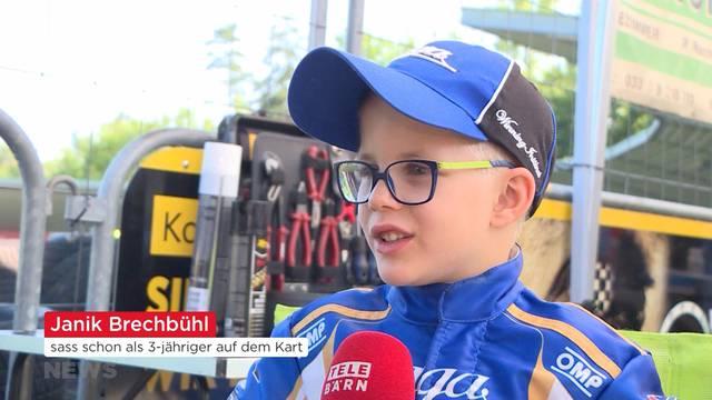 7-jähriges Kart-Talent Janik Brechbühl