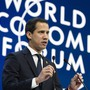 Juan Guaidó spricht vor Managern und Investoren in Davos. Er weibelt um Unterstützung. (KEYSTONE/Gian Ehrenzeller)