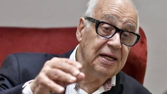 Jean Ziegler, Soziologe und Globalisierungskritiker Jean Ziegler, am 2. April 2019 im Rahmen eines Interviews mit der Austria Presse Agentur (APA) in Wien.