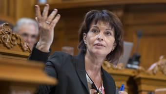 Bundesrätin Doris Leuthard bedankt sich für die Diskussion im Ständerat, die « animierter als in der Kommission» war.