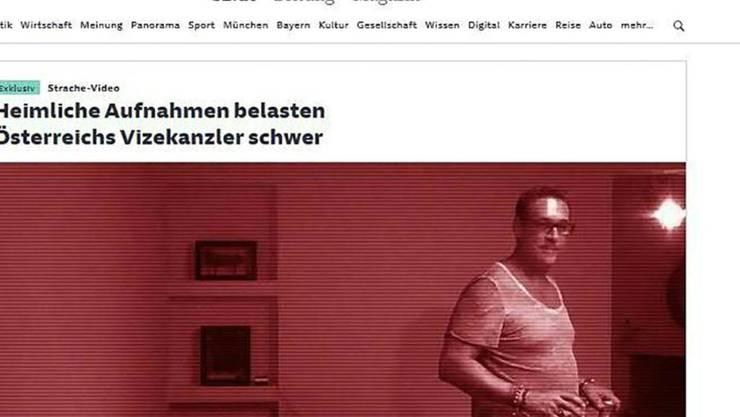 Deutsche Medien haben am Freitag ein Video veröffentlicht, das den österreichischen Vizekanzler Heinz-Christian Strache (FPÖ) in Korruptionsvorwürfen schwer belasten soll. Seine Partei wies die Anschuldigungen zurück. (Screenshot)