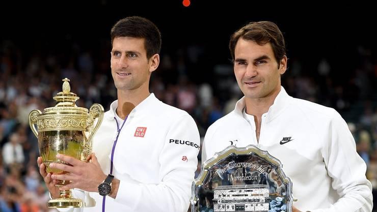 Novak Djokovic hat Roger Federer in Wimbledon zweimal im Final besiegt: 2014 und 2015 (Bild).