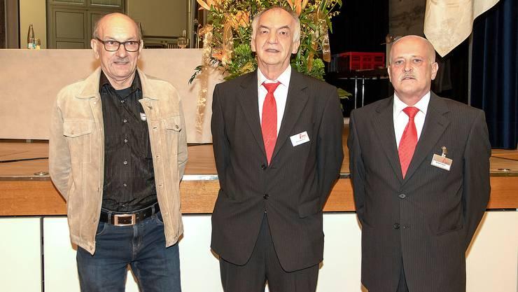 Die Geehrten: Oswald Jmark (Verdientes Mitglied), Heinz Hammer (Ehrenpräsident) und Robert Fürst (Ehrenmitglied).