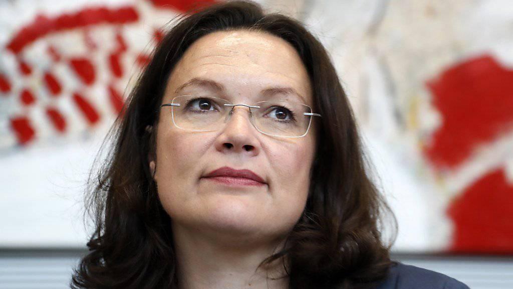 Noch ist sie Ministerin, doch als künftige Fraktionsvorsitzende der SPD wird Nahles eine führende Stellung in der Opposition innehaben.