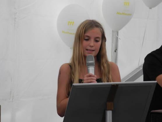 Die Tochter von Michael Hoffmann eröffnet das Fest