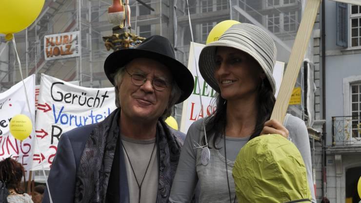 Demonstration der Kirschbluetengemeinschaft gegen Mobbing und Ausgrenzung Samuel Widmer © Hansjoerg Sahli