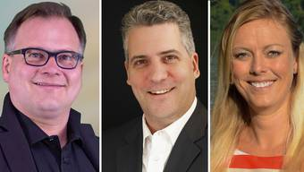 Die drei Kandidaten im Fricktal.
