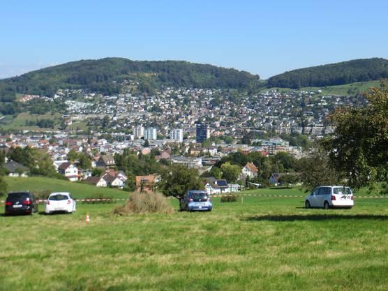 Und sogar ein Blick von Frenkendorf auf unsere Nachbargemeinde Füllinsdorf.