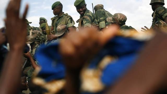 Kongolesische Soldaten in der Nähe von Goma (Symbolbild)