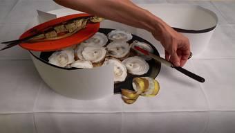 Ein Kunstmahl. Gekocht mit Ingredienzien aus Jahrhunderten, gewürzt mit Humor und angerichtet als verführerisches Video. «Austern» von Judith Albert.