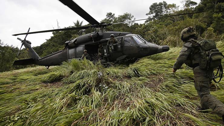 Einsatz im Kampf gegen die Drogenkriminalität: Kolumbiens Polizei schnappt einen Drogenbaron. (Symbolbild)