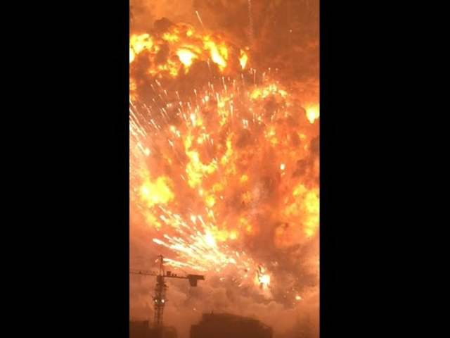 Amerikaner filmt Mega-Explosion