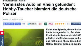 Hobbytaucher findet Polizeiauto: Viel Häme von deutschen Medien