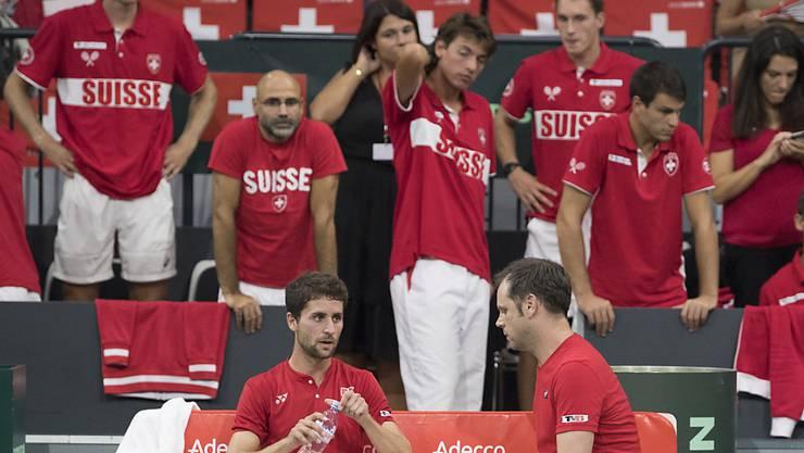 Das Schweizer Davis-Cup-Team wird im Februar zum dritten Mal in Folge ein Heimspiel in der Swiss Tennis Arena in Biel austragen