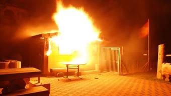 Brand eines Gartenhäuschens in Waldenburg BL