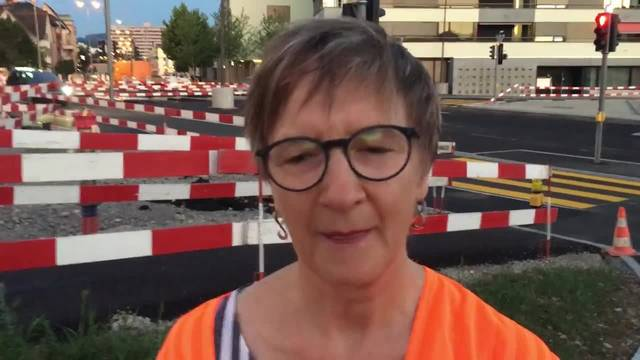 «Es ist ganz ein denkwürdiger Moment», sagt Stadträtin Manuela Stiefel über die Eröffnung der neuen Badenerstrasse