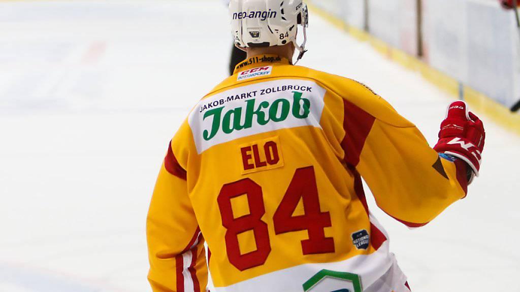 Erzielte beim Auswärtssieg gegen Kloten zwei der vier Treffer der SCL Tigers: der Finne Eero Elo