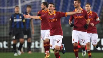 Alessandro Florenzi brachte Roma mit 1:0 in Führung.