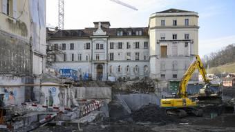 Badener Bäder: Baustellenbesichtigung Ende Februar 2019